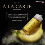 Original A LA CARTE Cream Banana By Juicenation Bercukai Resmi 100 Ml 3mg 6mg